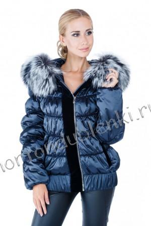 8f117854abe LAURA BIANCA LB-512 Зимняя короткая куртка с капюшоном и чернобуркой