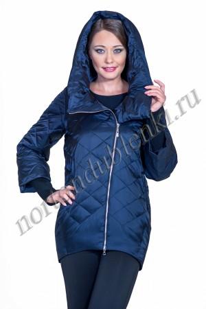 65af4e03221 Женская демисезонная куртка на молнии с капюшоном ALBANA AB- 7775 BLU