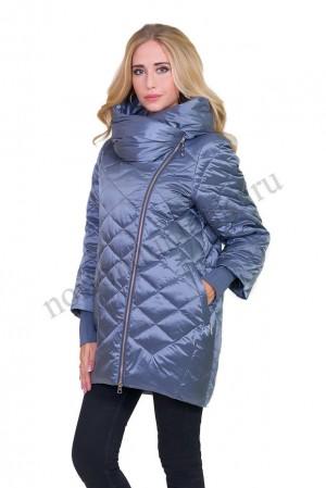 3672614e942 Женская модная куртка с капюшоном на позднюю осень ALBANA AB- 7775 sky