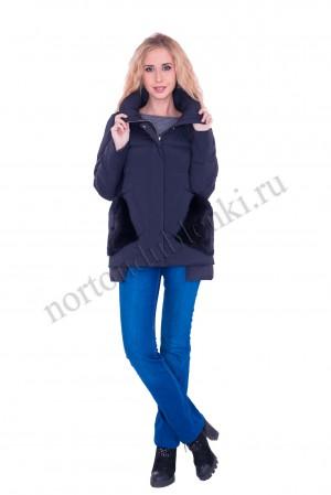 98c00e1035d ALBANA AB- 8721 - 665 Женская зимняя куртка с меховой отделкой