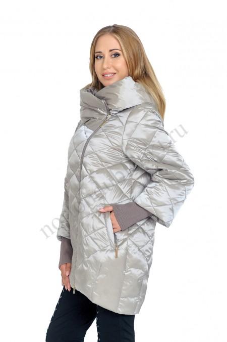 5b9592cc9c2 Женская зимняя куртка с капюшоном без меховой отделки ALBANA AB- 7775 SKY