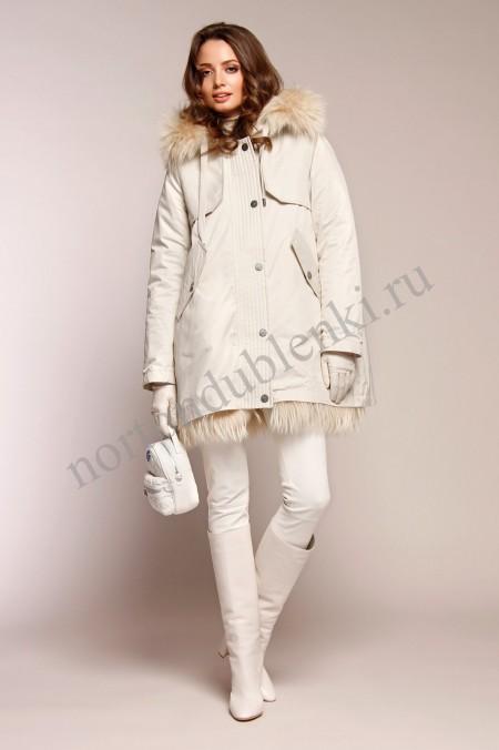 e8984d2d519 Стеганая зимняя куртка NAUMI N 18 W 728 02 13 ANTIQUE WHITE - Купить ...