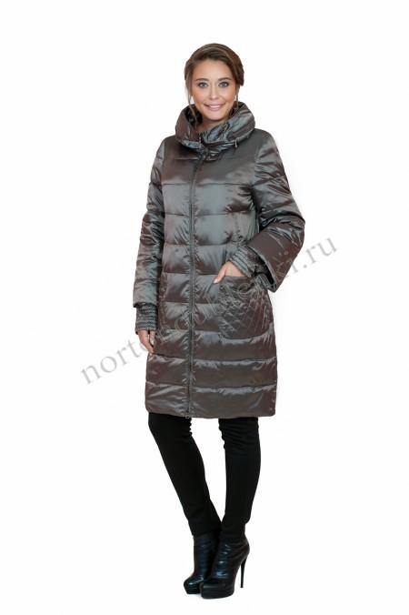d2b5ff1a097 Женское зимнее пальто с капюшоном без меха ALBANA AB-7812 BLU