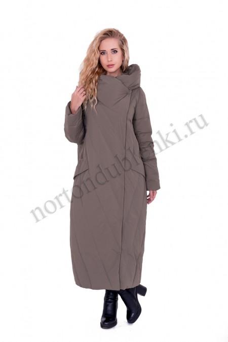 afb5482b600 Женское зимнее пальто на пуху без меха ALBANA 8712 olive - Купить в ...