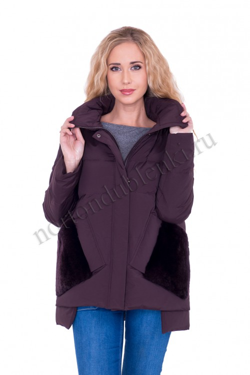eeda1259ae2 БЫСТРЫЙ ПРОСМОТР. ALBANA AB-8721 - 684 Женская короткая зимняя куртка  пуховик с мехом